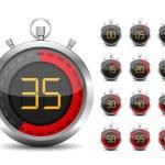 Digital Timer — Stock Vector