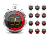 数字计时器 — 图库矢量图片