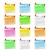 Calendario 2013. — Vettoriale Stock