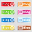 Tabs for your blog — Stock Vector