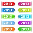 2013 Tabs — Stock Vector