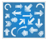 手工绘制的箭头 — 图库矢量图片