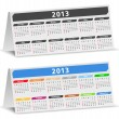 2013 Desk Calendar — Stock Vector