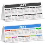 2013 Desk Calendar — Stock Vector