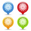 Snowflake Icon — Vector de stock #13832314