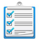 проверьте значок списка — Cтоковый вектор