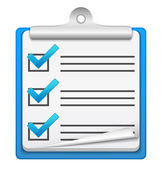 Check-list-symbol — Stockvektor