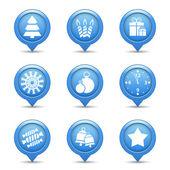 Christmas Icons — Stock Vector