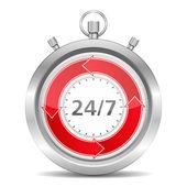 7 gün 24 saat kavramı — Stok Vektör
