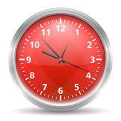 Kırmızı saat — Stok Vektör