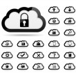Icons in clouds — Stock Vector