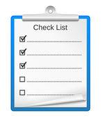 Lista de comprobación. — Vector de stock