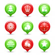 Christmas Icons - Stock Vector