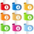 Ribbons with numbers - Imagen vectorial