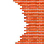 Broken Brick Wall — Stock Vector
