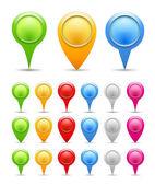 Marcadores de mapa — Vetorial Stock