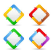 Buttons with arrows — Stock Vector