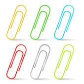 Color Paper Clips — Stock Vector