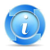 Icono de información — Vector de stock