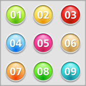 Buttons with numbers — Stock Vector