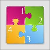 Puzzle quadrat — Stockvektor