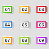 Tabs with numbers — Stock Vector
