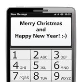 Merry Christmas SMS — Stock Vector