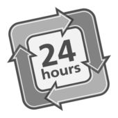 24 Hours — Stock Vector
