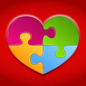 Puzzel hart — Stockvector