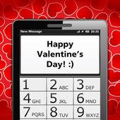 Heureuse saint valentin sms — Vecteur