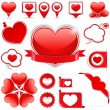 Design Elements with Hearts — Stock Vector