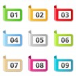 Stock Vector: Ribbons with numbers