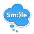 Speech Bubble with Smile — Stock Vector #18310847
