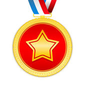 Medal with Star — Stock Vector