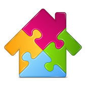 Puzzle House — Stockvector