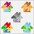 Puzzle House — Stock Vector