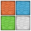 brick walls — Stock Vector