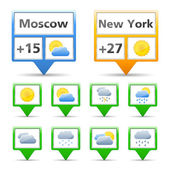 Weather Indicators — Stock Vector