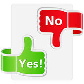 Yes and No Signs — Stock Vector