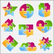 Puzzle Objects - Stock Vector