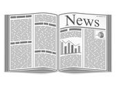 Open Newspaper — Stock Vector