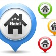 Hotel Icon — Stock Vector
