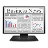Business News in Computer — Stock Vector