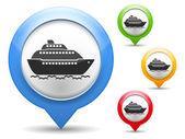Icona di nave — Vettoriale Stock