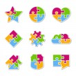 Puzzle Icons — Stock Vector #23417300