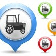 Royalty-Free Stock Immagine Vettoriale: Tractor Icon