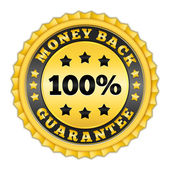 Money Back Guarantee Badge — Stock Vector