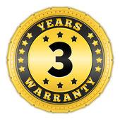 Three Years Warranty — Stock Vector