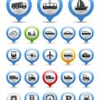 Transport Icons — Stock Vector #23797443