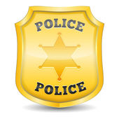 Police Badge — Stock Vector